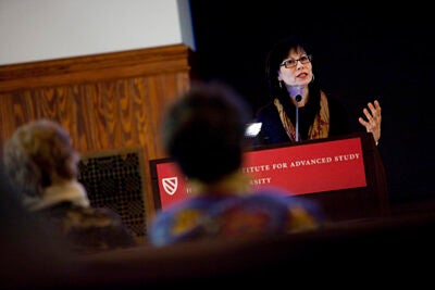 """Radcliffe Fellow Nancy J. Smith-Hefner delivers a lecture on """"The Gender Paradox: Javanese Women and the Appeal of Conservative Islam."""""""