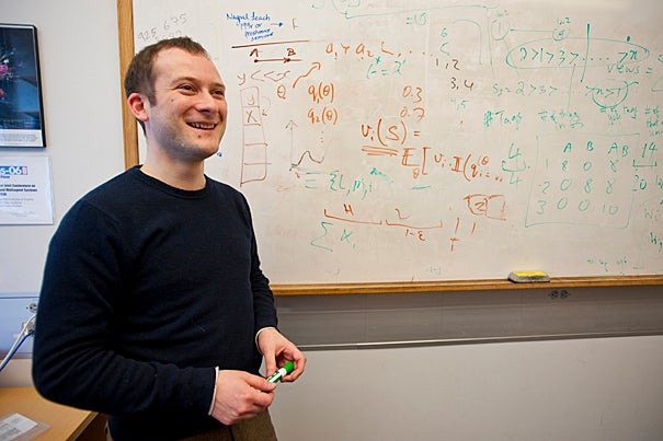 (Cambridge, MA - February 18, 2010) Gordon McKay Professor of Computer Science David Parkes, poses for a portrait in his office at Maxwell Dworkin. Staff Photo Kristyn Ulanday/Harvard University