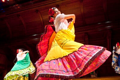 The Ballet Folklorico de Aztlan was one of the many dazzling student groups performing at the 2010 Cultural Rhythms.