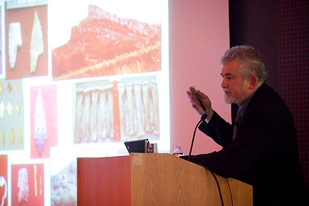 Humans living at the end of the last ice age endured their own version of climate change, one where a harsh, bitterly cold Europe gradually warmed to become the forested continent that exists today, explains Lawrence Straus, Distinguished Professor of Anthropology at the University of New Mexico, during the annual Hallam L. Movius Jr. Lecture at Harvard's Peabody Museum.