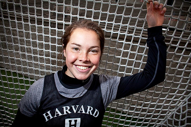 (Cambridge, MA - March 26, 2009) Melanie Baskind, a sophomore at Harvard College is a neurobiology major and plays both varsity soccer and lacrosse. Staff Photo Justin Ide/Harvard University News Office