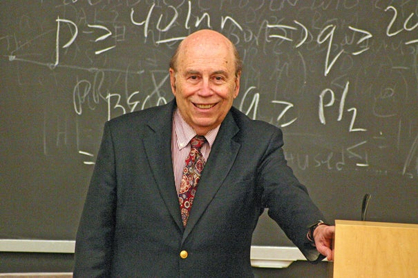 Michael O. Rabin, Thomas J. Watson Sr. Professor of Computer Science at Harvard, will be honored with the 2010 Dan David Prize on May 9 at Tel Aviv University.