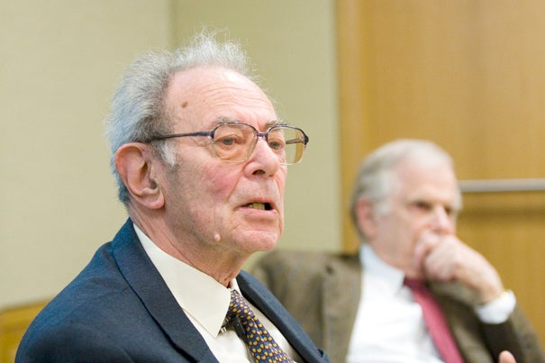 """János Kornai, the Allie S. Freed Professor of Economics Emeritus at Harvard, was honored for """"his life achievement and internationally acknowledged results in researching the theory and performance of economic systems"""" in Hungary on March 15."""
