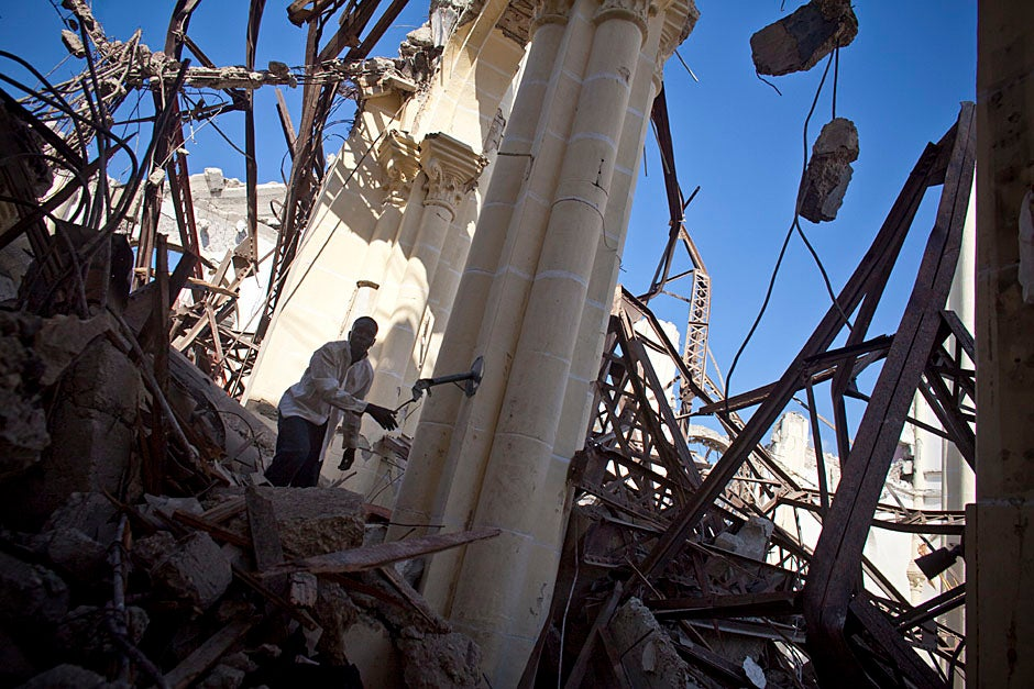 The Cathedral of Our Lady of the Assumption in downtown Port-au-Prince suffered complete destruction during the quake.   Justin Ide/Harvard Staff Photographer