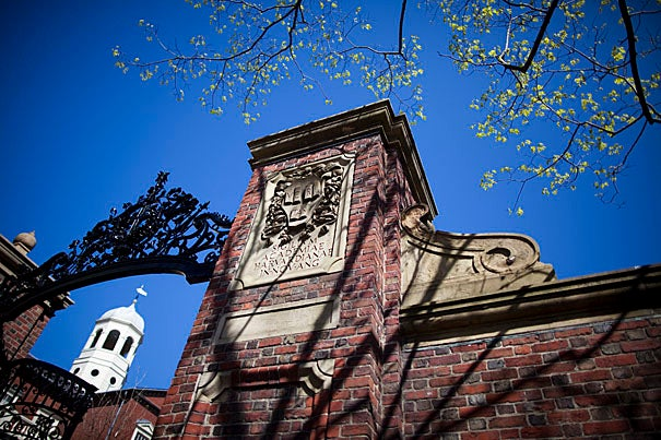 """""""We are delighted that so many of the nation's and world's best students have chosen to join us here in Cambridge,"""" said William R. Fitzsimmons, dean of admissions and financial aid. Johnston Gate graces one of the many entrances into Harvard Yard."""