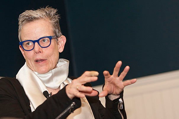 Visual artist, writer, and curator Catherine Lord '70 received the 2010 Harvard Arts Medal Thursday evening (April 29), kicking off Harvard's annual Arts First Festival this weekend.