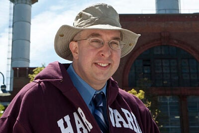 In the off-season, Jason Luke '94 oversees a staff of 250 custodians and handles logistics and support for other Harvard events peppered throughout the academic year.