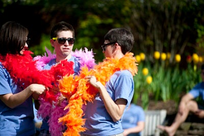 """The Sunken Garden Children's Theatre puts on a production of """"The Ugly Duckling"""" for children as part of the Arts First Festival."""