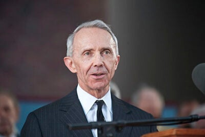"""The Constitution embodies the desire of the American people, like most people, to have things both ways,"" David Souter told the Commencement audience. ""We want order and security, and we also want liberty. We want not only liberty, but equality as well. These paired desires of ours can clash, and when they do, a court is forced to choose between them."""