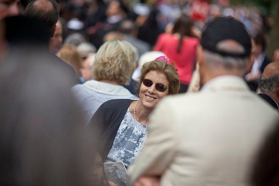 Proud parent Caroline Kennedy celebrates her daughter's graduation. Justin Ide/Harvard Staff Photographer