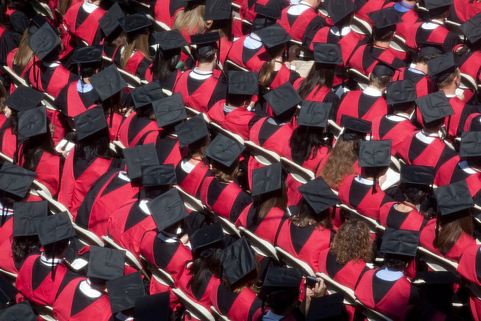 Harvard awarded a total of 7,125 degrees and 89 certificates at its 359th Commencement. Kris Snibbe/Harvard Staff Photographer