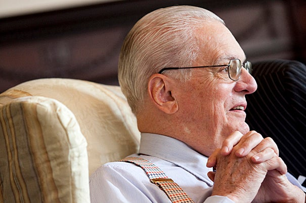 James R. Houghton, 1958 graduate of Harvard College and 1962 graduate of Harvard Business School, served on the executive governing board of Harvard Corporation for 15 years.
