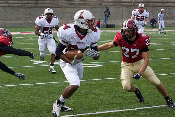 Ten Harvard players were named preseason All-Ivy League by Phil Steele's Football Preview, while captain and free safety Collin Zych '11 (right) has garnered preseason All-America honors from every publication.