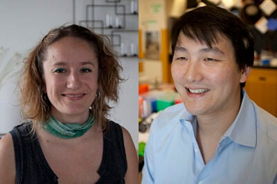 This year, three Harvard-affiliated researchers have won the TR35 award. Two of the three winners are pictured: danah boyd (left) and Timothy K. Lu.