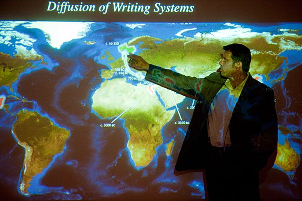 "Writing was ""independently invented several times in human history"" and yet it was invented ""in strikingly similar ways,"" explained linguistic anthropologist Marc Zender. Zender's talk opened ""Visible Language,"" a semester-long lecture series sponsored by the Peabody Museum of Archaeology and Ethnology."
