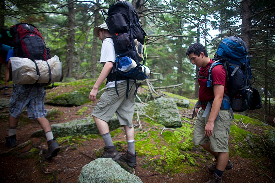 Nearing the crest of the mountain, the terrain levels out.  Justin Ide/Harvard Staff Photographer