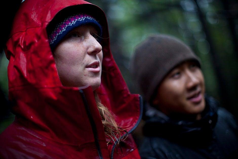 Trip leader Emma Franklin '12.  Justin Ide/Harvard University