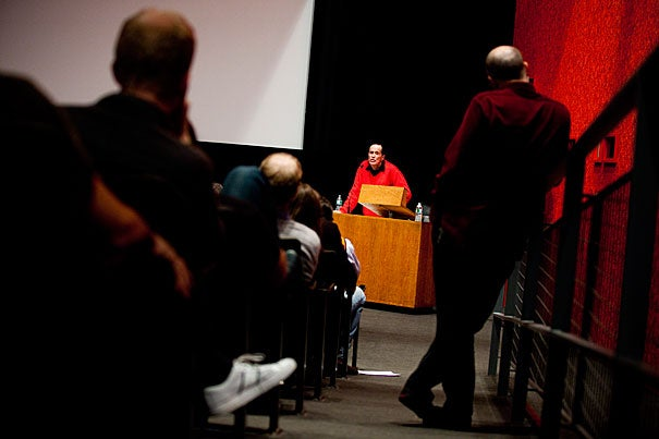 Iconic underground filmmaker Kenneth Anger was honored at Harvard during a three-day screening festival. Hosted by the Harvard Film Archive, Anger spoke at the Carpenter Center during the final two days of the festival.