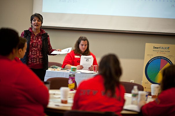 "HASI Assistant Director Lisa Moellman (pictured) recently trained City Year volunteers who will be working in after-school programs across Boston. ""HASI's work gives us the ability to make after-school time more fun and engaging,"" said Stephen O'Connell, one of the 10 City Year corps members assigned to the Agassiz School in Jamaica Plain last year."