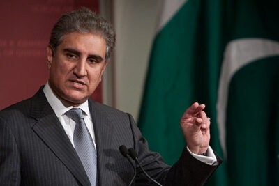"Foreign Minister Makhdoom Shah Mahmood Qureshi of Pakistan said, ""We need trade, not just aid,"" in a Harvard Kennedy School talk that outlined steps to improve U.S.-Pakistan relations."