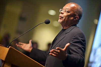Henry Louis Gates Jr. (pictured) hailed the growth of Africa-centered programs at Harvard in the 20 years since he arrived. He said that history was being made as Harvard throws its weight behind the importance of African studies.
