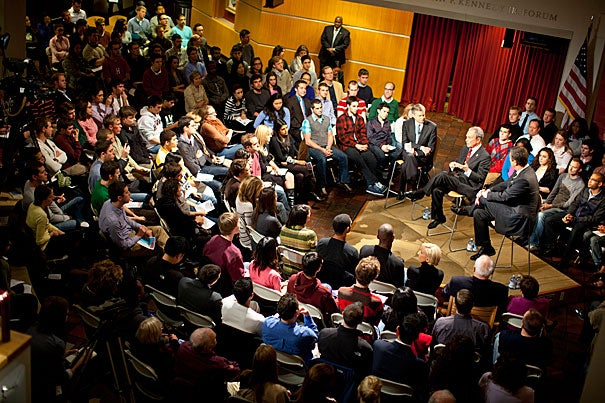"Mayor Michael Bloomberg, a Republican turned independent, and Joe Scarborough, the host of MSNBC's ""Morning Joe,"" both slammed the two-party system at a Harvard Kennedy School forum called ""The Midterms & Beyond: A New Way Forward."""
