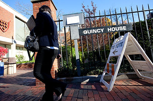 Quincy House (pictured) and the Harvard Graduate School of Design serve as polling places for local residents, as well as for Harvard students who register in Cambridge.