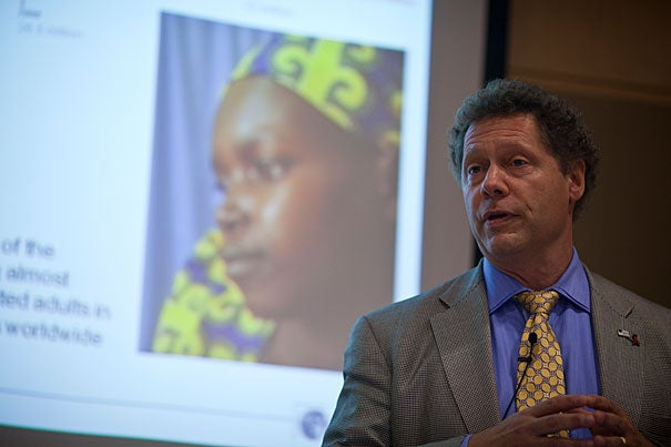 """It is a really exciting time in AIDS vaccines,"" Seth Berkley, president and CEO of the International AIDS Vaccine Initiative, told his Harvard School of Public Health audience. ""We are in an AIDS vaccine renaissance. The science is moving on as we are talking."""