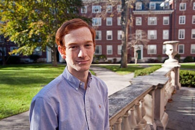 """ ... Harvard has helped me make the connections between disciplines. I no longer think simply of my course on the biology of longevity because I bridge its ideas to my classes on nutrition, sociology, and even organic chemistry,"" said Marcel Moran."