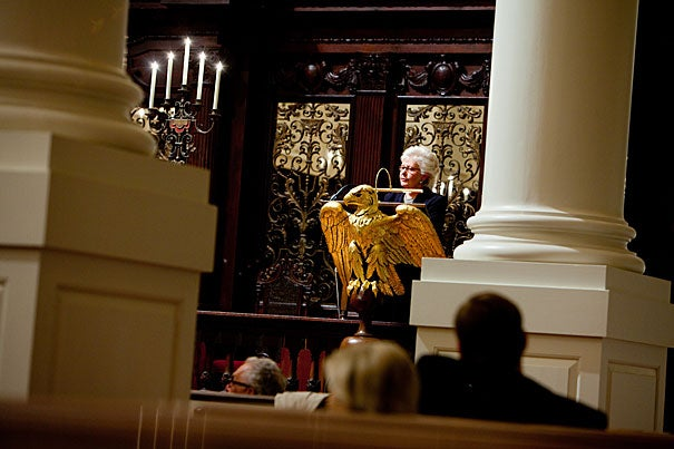 """The American system of justice, particularly in our state courts, is in crisis. It is a crisis that if left unchecked will undermine the very principles of fairness and equality that sustain our democracy,"" said Chief Justice Margaret H. Marshall of the Supreme Judicial Court of Massachusetts, when delivering the Paul Tillich Lecture at the Memorial Church. Marshall, who announced her retirement in July, has agreed to delay her departure until a nominee to the court is confirmed."