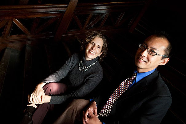 """Few fellowships out there recognize the importance of this time in our careers,"" said Ingrid Katz, who, alongside Roy Ahn (right) are recipients of the Shore Fellowship, which offers stipends to junior faculty at the most vulnerable point in their academic careers."