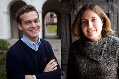 Harvard seniors Jonathan Warsh and Kenzie Bok have been awarded prestigious Marshall Scholarships.
