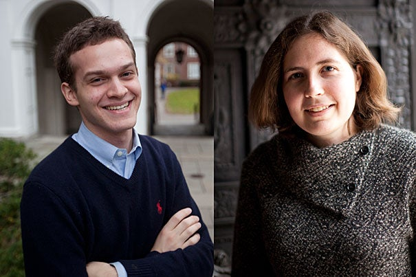 Harvard seniors Jonathan Warsh and Kenzie Bok have been awarded prestigious Marshall Scholarships.