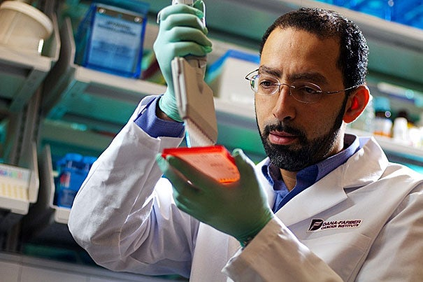 "Researchers' findings pinpoint a critical gene involved in melanoma growth, and provide a framework for discovering ways to tackle cancer drug resistance. ""Our work provides an unbiased method for approaching this problem not only for melanoma, but for any tumor type,"" said senior author Levi Garraway (pictured), a medical oncologist and assistant professor at Dana-Farber and Harvard Medical School, and a senior associate member of the Broad Institute."