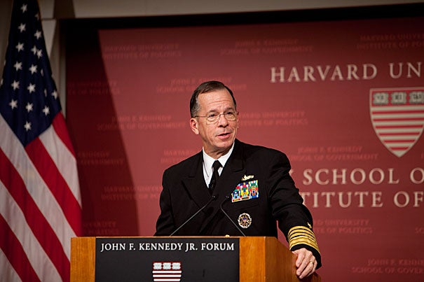"War is an unpredictable, nonlinear interplay of policy and strategy, Adm. Mike Mullen said in a Harvard talk, and ""sense and adjust"" is the way to proceed."