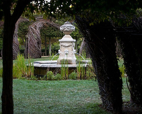 "Dumbarton Oaks was purchased in 1920 by Robert Woods Bliss, a Harvard alumnus, and his wife, Mildred Barnes Bliss. ""Their idea was that a cultured public could enjoy the gardens and occasional concerts, while research fellows brought here could have years in a beautiful setting in which they could produce scholarly work in a sustained way,'' said Director Jan Ziolkowski."