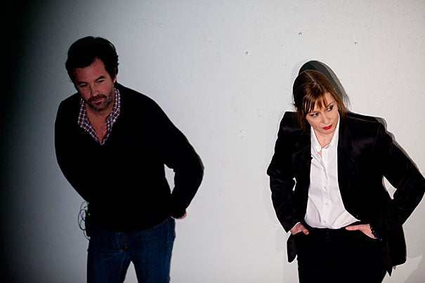 Suzanne Vega (right) is collaborating with director Kay Matschullat '77 and musician Duncan Sheik (left) on a musical theater piece about Carson McCullers, who died in 1967. The three talked about their work and the collaborative process during a discussion Thursday (Dec. 2) at Harvard's newest art space Arts @ 29 Garden.