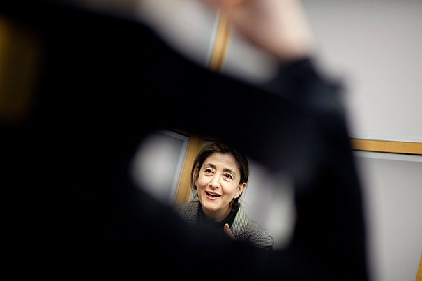 "Former Colombian presidential candidate Ingrid Betancourt described the physical and mental torment of spending more than six years in captivity. ""I was thrown, like the snap of a finger, from civilization to prehistoric living,"" she said during her talk at Harvard's Center for Government and International Studies."
