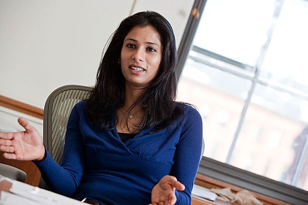 """When her native India experienced a financial crisis, Professor Gita Gopinath said she """"got really excited by economics at that point."""" Gopinath eventually became a fervent student of currency values, depreciation, bailouts, and capital flow. """"I fell in love with the subject."""""""