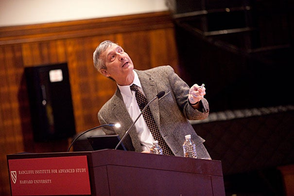 "C. David Allis of The Rockefeller University explained that there are important factors in development that go beyond the DNA ""blueprint"" in his Radcliffe Dean's Lecture, ""Beyond the Double Helix: Varying the 'Histone Code.'"""