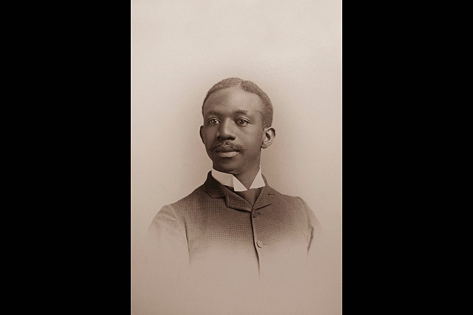 Thirty-one-year-old Clement G. Morgan made national headlines as the first African American chosen to deliver a Harvard senior class oration. Photo ca. 1890. Harvard University Archives, call # HUP Morgan, C.G. (1a)