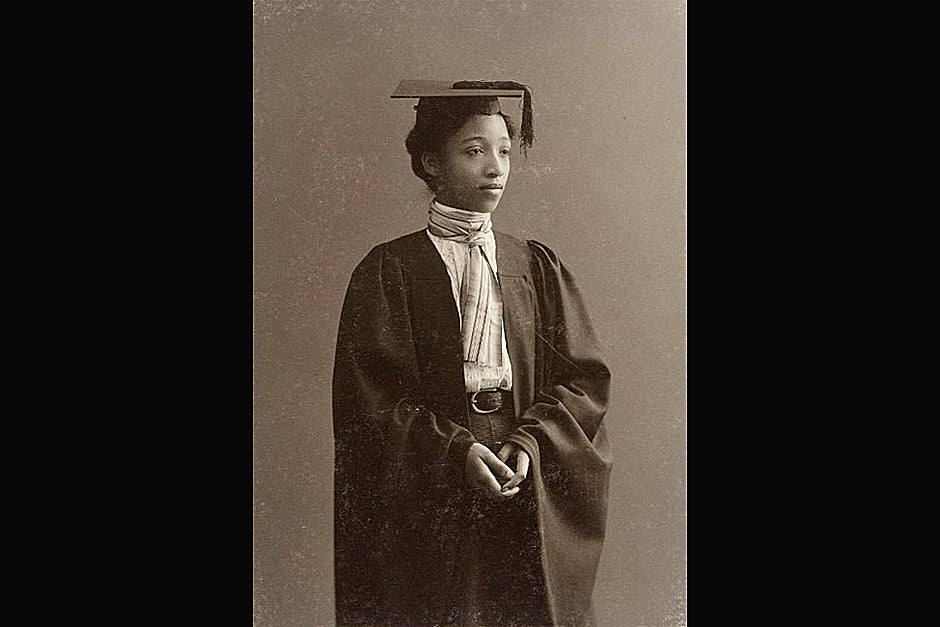 Alberta Virginia Scott, A.B. 1898, was the first African-American graduate of Radcliffe. Credit: Schlesinger Library, Radcliffe Institute, Harvard University (http://www.radcliffe.edu/schles/)