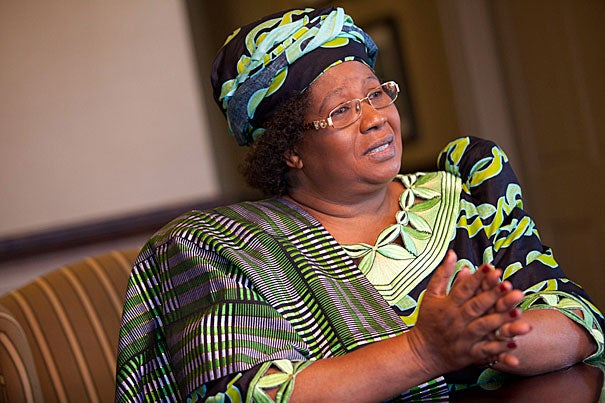 """Joyce Banda, vice president of Malawi: """"Joyce Bandas are out there in Africa. They are just waiting for partners. They can do it, but they just need support."""""""