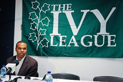 """We're very fortunate,"" said Harvard coach Tommy Amaker. ""Only 100 teams play in the NCAA and NIT tournaments. We're thrilled to be among them."" The team had hoped for an at-large berth to the NCAA tournament, but was passed over by the selection committee. Amaker says that the news of the Crimson's first-ever NIT bid gave a welcome lift to players' spirits."