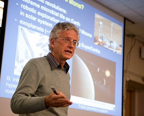 """If there ever was a moment to think about the origins of life, it surely is now,"" said Ralph Pudritz in his talk ""Equipping Planets for Life."" Pudritz spoke at one of the regular forums sponsored by Harvard's Origins of Life Initiative."