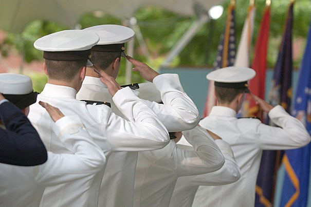 """""""NROTC's return to Harvard is good for the University, good for the military, and good for the country,"""" said Navy Secretary Ray Mabus. """"Together, we have made a decision to enrich the experience open to Harvard's undergraduates, make the military better, and our nation stronger. Because with exposure comes understanding, and through understanding comes strength."""""""