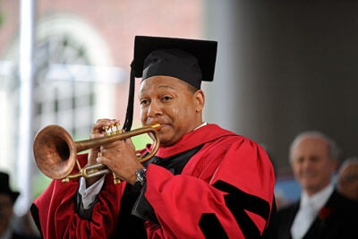 Wynton Marsalis will launch a two-year performance and lecture series on April 28, with an appearance at Sanders Theatre. Harvard awarded Marsalis an honorary doctorate in music in 2009.