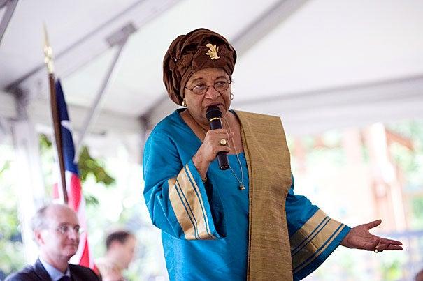 Liberian President Ellen Johnson Sirleaf was named the principal speaker for Harvard's 360th Commencement.
