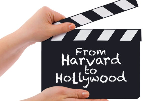As a liberal arts college, Harvard doesn't train its students for jobs in Hollywood. But student clubs, a liaison network, and individual drive prompt some toward entertainment careers, a fact reflected in this year's Oscar nominees.