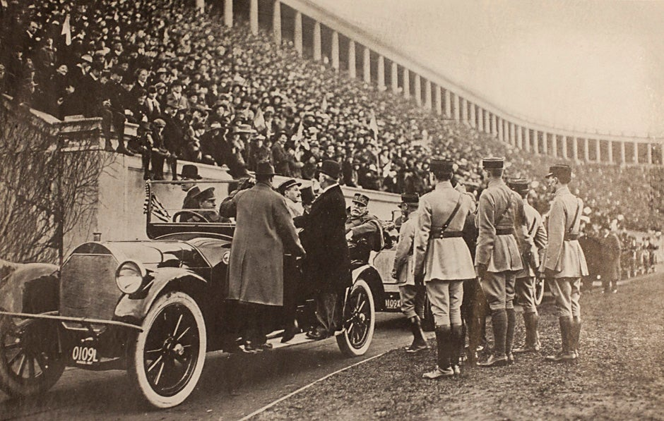"Harvard University Archives image. Inscription reads, ""1917."" Stephanie Mitchell/Harvard Staff Photographer"